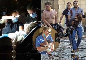 """""""Křičela se třemi novorozenci v náručí.""""  V nemocnicích v Bejrútu panuje chaos, všude je krev"""