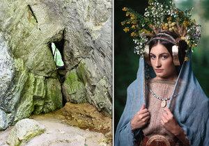 Historici oživili princeznu, kterou obětovali v Býčí skále.