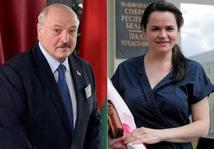 Volby v Bělorusku: Hlavní soupeři - současný prezident Alexandr Lukašenko a Svjatlana Cichanouská