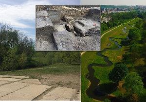 Při povodí Rokytky se ve středověku a novověku nacházela vesnička Šešovice. Tu v roce 1648 zcela do základů vyplenili Švédové, a už nebyla obnovena. Její místo zabraly dnešní Hrdlořezy.