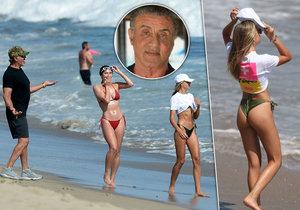 Sylvester Stallone se pochlubil sexy dcerkami.