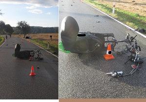 Řidička skútru zemřela na Prachaticku, srazila se s autem