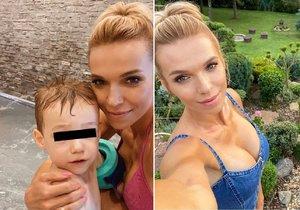 Krize pokračuje? Hana Mašlíková je na dovolené jenom se synem...