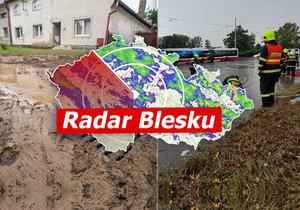 Na severovýchod Česka se řítí přívalové deště, sledujte radar