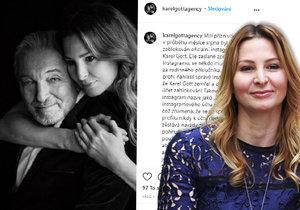 Ivana Gottová založila nový instagramový účet, kde se budou objevovat novinky týkající se jména Karla Gotta.
