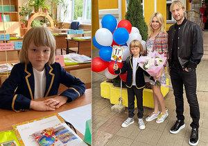 Malý Sašenka Pljuščenko nastoupil do první třídy