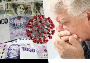 Každá česká domácnost přišla kvůli koronaviru průměrně o 13 000 korun