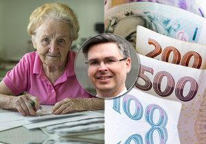 Spořte! Podle ekonomů bude státní důchod větší a větší bída.