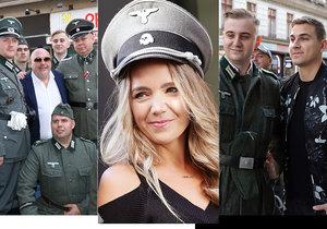 Zbláznili se? Lucie Vondráčková s esesáckou čepicí na hlavě! O poprask se postaraly i další celebrity