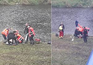 Dívka spadla ve Strakonicích z mostu: V řece bylo málo vody, utrpěla těžká zranění