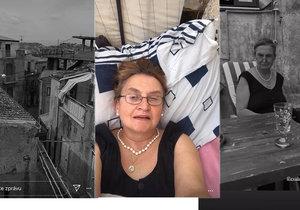 Eva Holubová ve svém domě na Sicílii