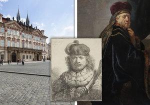 Rembrandtova díla jsou k vidění v paláci Kinských