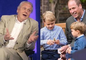 Princ George si smí nechat žraločí zub, který mu daroval přírodovědec David Attenborough