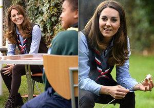 Kate Middleton v době koronavirové krize podpořila skauty