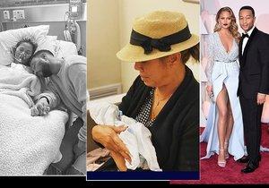 Maminka Chrissy Teigen oplakává vnoučka.