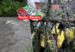 Do Česka se ženou povodně a vítr