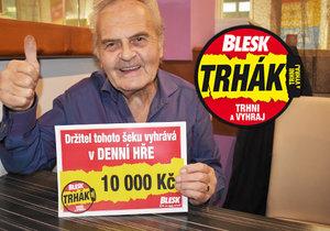 František Tůma, šťastný výherce DENNÍ HRY Trháku.