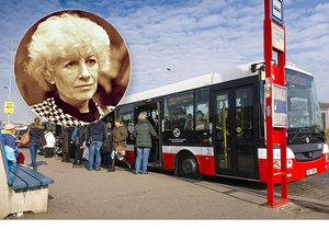 Na Žižkově vznikla nová autobusová zastávka. Nese jméno slavné rodačky.
