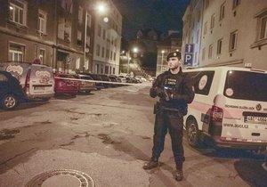 Policisté zasahovali 7. října 2020 v Libni.