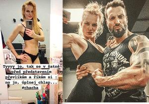 Iva Pazderková před soutěží Bikini fitness
