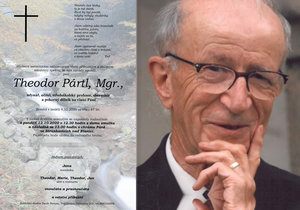 Zemřel Theodor Pártl (†87): Kolegové a studenti se loučí s oblíbeným pedagogem