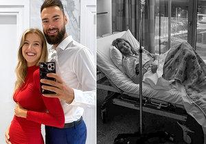 Těhotná Jitka Nováčková skončila v nemocnici na kapačkách.