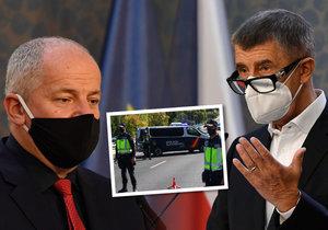 Premiér Andrej Babiš (ANO) a ministr zdravotnictví Roman Prymula (za ANO) nevyloučili lockdown. Neměl by být ale tak přísný (9. 10. 2020)