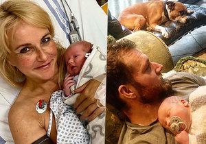 Vendula Pizingerová je po návratu z porodnice šťastná jako blecha.