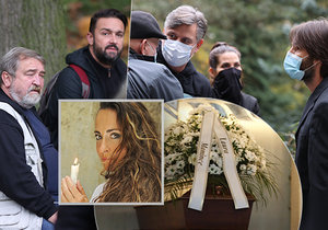 Pohřbu herečky Daniely Krhutové v motolském krematoriu se účastnilo mnoho hvězd