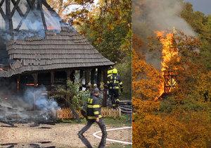 Obrovská tragédie: Dřevěný kostel v zahradě Kinských zdevastoval požár, zřítila se mu věž