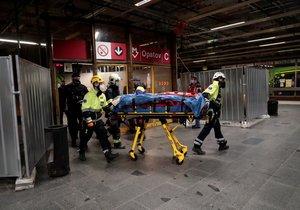 Násilí na metru Opatov: Po drsné hádce strčil muž druhého do kolejiště!