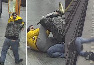 Video zachytilo, jak muž strčil na Opatově druhého pod vlak.