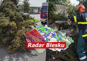 Silný vítr potrápí Česko, může dosáhnout až síly orkánu. Sledujte radar Blesku