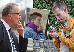 Kouření? Pro děti v Česku přístupné, závislých je čtvrt milionu.