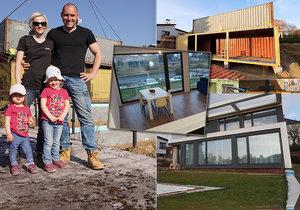 Marek pro rodinu postavil luxusní dům z kontejnerů! Nakoukněte i dovnitř!