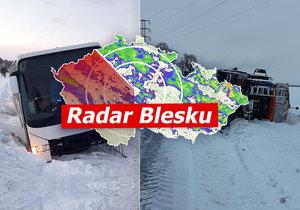 ONLINE: V Česku napadlo až 50 cm sněhu. Chumelit bude dál, udeří i mrazy, sledujte radar Blesku