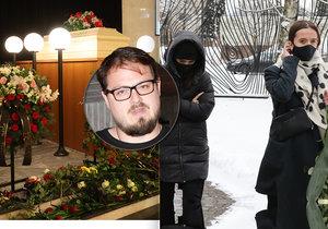 Pohřeb zpěváka Stypky (†41): Davy lidí, bílá rakev a slzící Farna s Klusovou