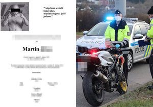 Le motard Martin K. s'est effondré à Butovice.  Il est mort après avoir frappé la lampe.