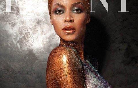 Úplně nahá Beyoncé: Na obálce časopisu se oblékla jen do třpytek!