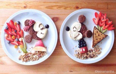 Jídla, která vaše děti budou milovat! Talíře plné pohádkových postaviček