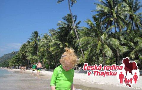 Česká rodina v Thajsku: Výlet lodí na ostrovy část 2.