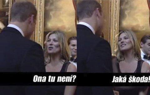 Královský flirt: Podívejte se, jak mrcha Kate Moss balila prince Williama