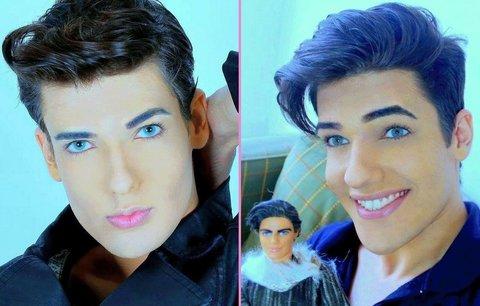 Další šílený Ken! Do vzhledu dal víc než milion, přítelkyni ale nemá!