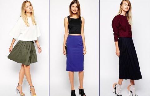Podzimní sukně, které si zamilujete! Trendy jsou áčkové střihy a koženka!