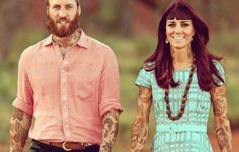 Potetovaní Kate a William: vypadají jako hipsteři!