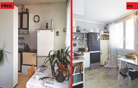 Proměna panelákové kuchyně: Stejné rozvržení, a přitom více místa a světla