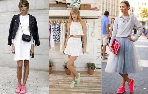 Stylové jarní tenisky: Na procházku, do práce i na večírek k sukni!