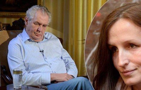 Zemana si vážím, neleze lidem do zadku, říká Michaláková. Prezident jí chce pomoci