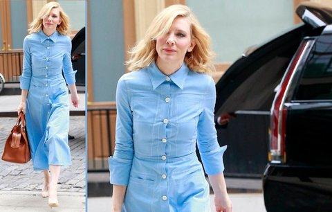 Styl podle celebrit: Cate Blanchett oblékla podzimní džínové šaty