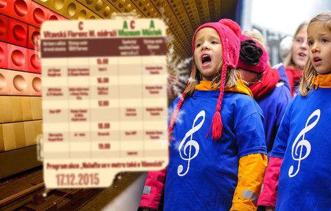 Místo na koncert do metra: Ve čtvrtek ho rozezní dětský sbor i filmová hudba